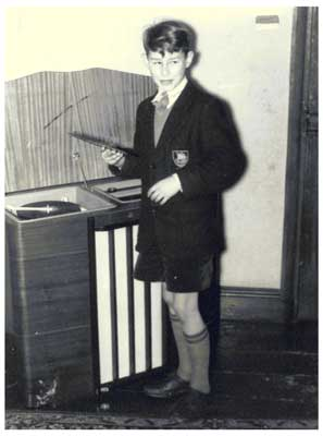 Young John with radiogram